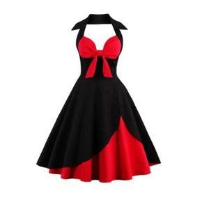 Dresses & Skirts - Two Tone Retro Halter Dress